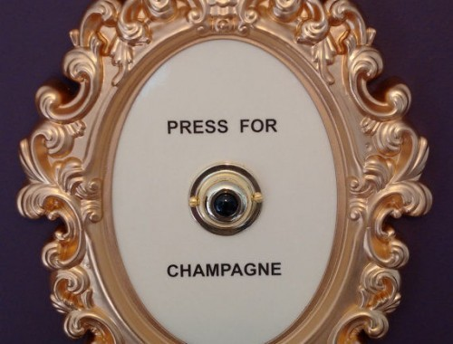 press of champagne